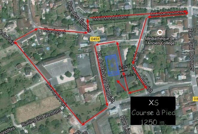 course à pied XS
