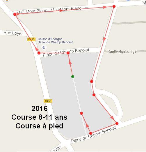 parcours course à pied 8-11ans