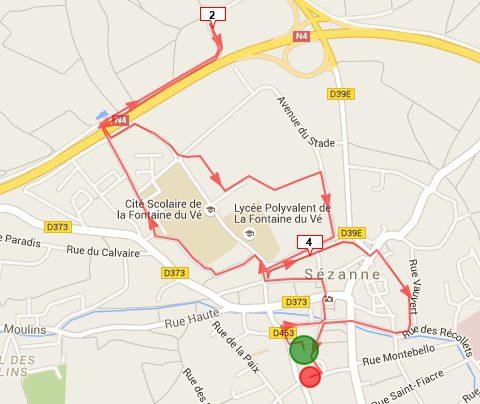 parcours course à pied M