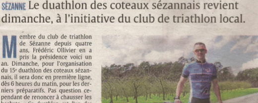 Le Duathlon des coteaux sézannais 2018 dans la presse locale
