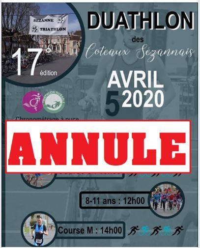 Duathlon des Coteaux Sézannais annulé